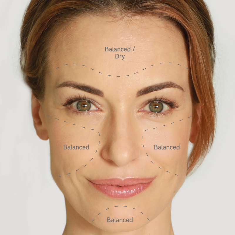 Normal skin is skin tends to be balanced, being neither too dry not too oily. Pores are usually small, skin is not sensitive or reactive and there are minimal outbreaks of spots.