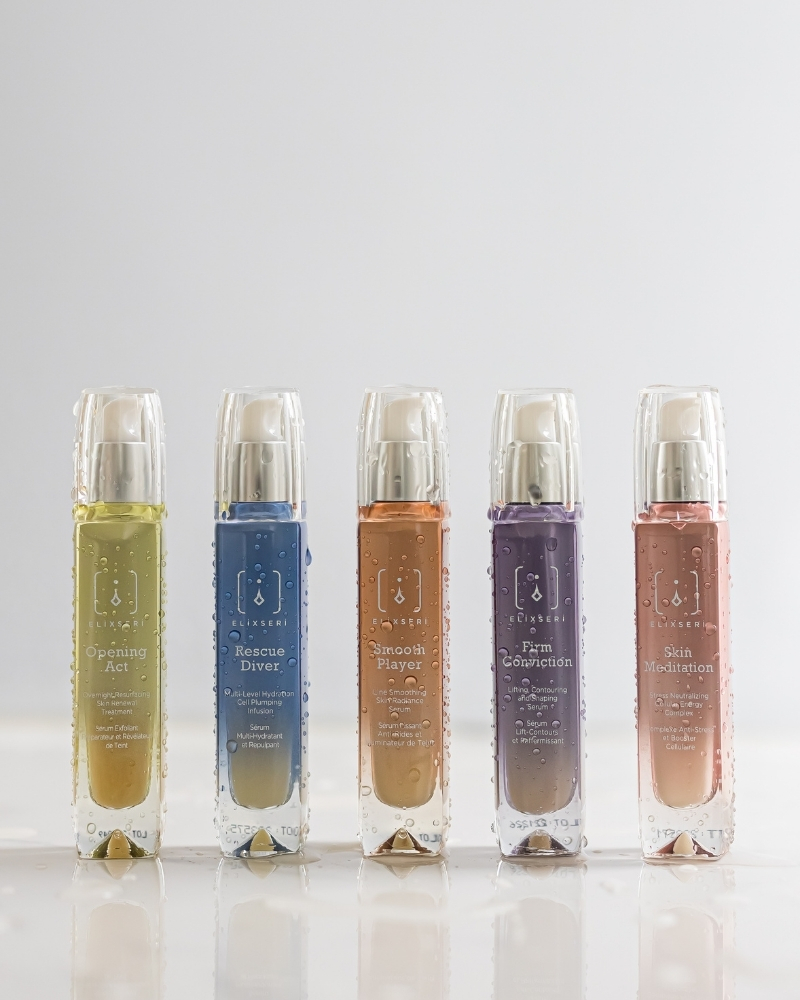 elixseri serums will target and treat the symptoms of dehydration and dryness